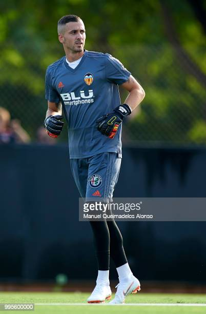 Jaume Domenech of Valencia CF during training session at Paterna Training Centre on July 10 2018 in Valencia Spain