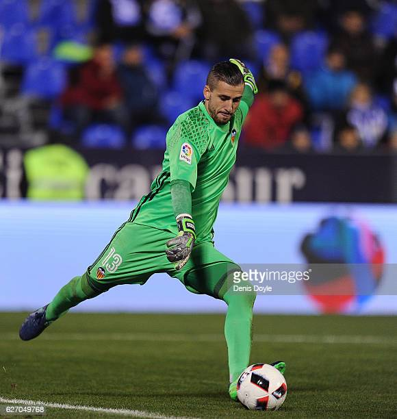 Jaume Domenech of Valencia CF in action during the Copa del Rey Round of 32 match between CD Leganes and Valencia CF at Estadio Municipal de Butarque...