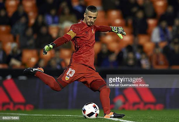 Jaume Domenech of Valencia in action during the Copa del Rey Round of 16 match between Valencia CF and CD Leganes at Estadio Mestalla on December 21...
