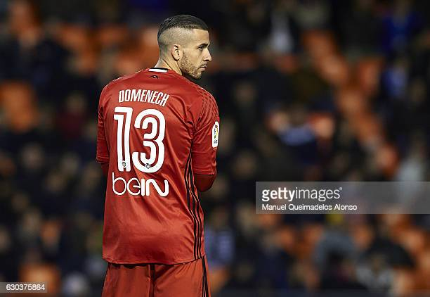 Jaume Domenech of Valencia looks on during the Copa del Rey Round of 16 match between Valencia CF and CD Leganes at Estadio Mestalla on December 21...