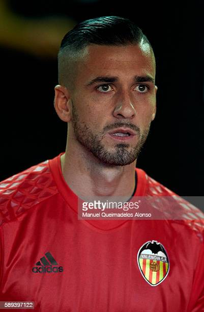 Jaume Domenech of Valencia looks on during the team official presentation ahead of the preseason friendly match between Valencia CF and AC Fiorentina...