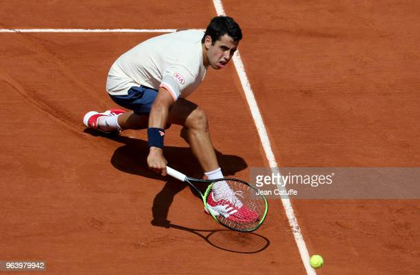 Jaume Munar of Spain during Day Four of the 2018 French Open at Roland Garros on May 30 2018 in Paris France