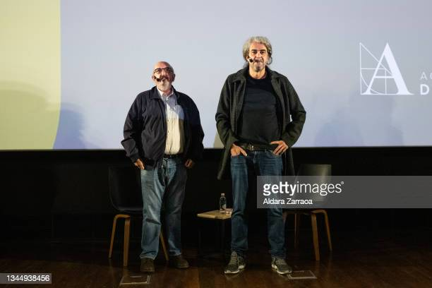 Jaume Roures and Fernando Leon de Aranoa pose in the announcement that the film 'El buen patron' is the Spanish candidate to Oscars 2022 on October...