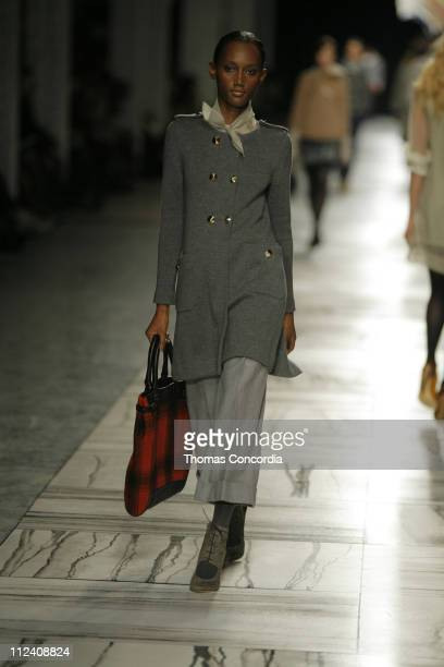 Jaunel McKenzie wearing 3.1 Phillip Lim Fall 2007 during Mercedes-Benz Fashion Week Fall 2007 - 3.1 Phillip Lim - Runway at Waterfront Building in...