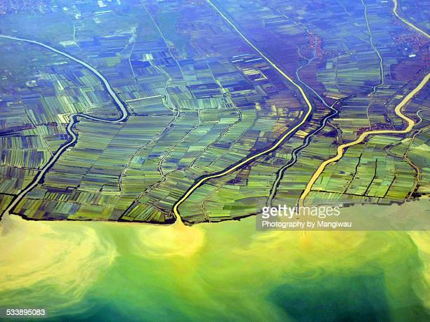 java sea - soil erosion stock photos and pictures