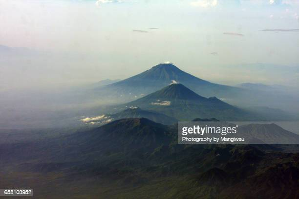 java volcanoes - plate tectonics stock photos and pictures