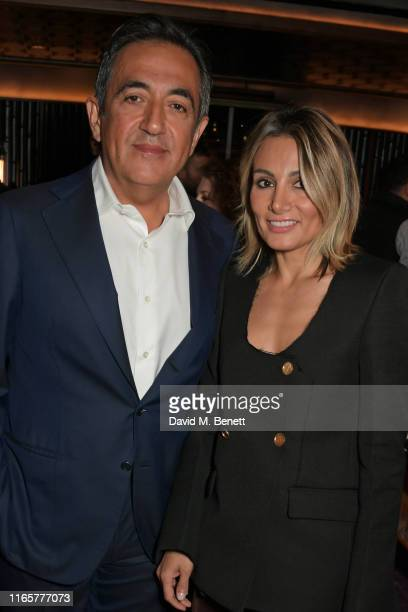 Javad Marandi and Narmina Marandi attend the official launch party of Lucky Cat by Gordon Ramsay in Grosvenor Square Mayfair on September 2 2019 in...