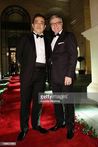 Javad Marandi and Tarek Mourad arrive at the launch of the Four Seasons Hotel Baku on November 17 2012 in Baku Azerbaijan