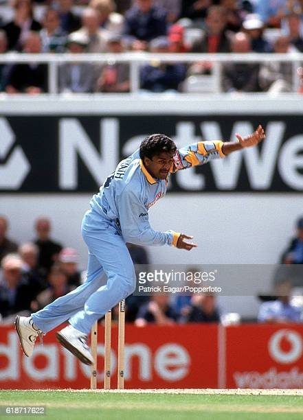 Javagal Srinath bowling for India during the World Cup Super Six match between Australia and India at The Oval London 4th June 1999
