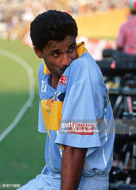 Javagal Srinath of India during the Wills World Cup in India 9th March 1996