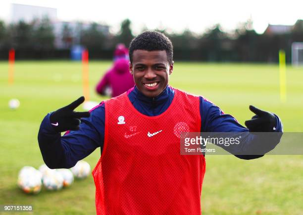 Javairo Dilrosun at Manchester City Football Academy on January 18 2018 in Manchester England