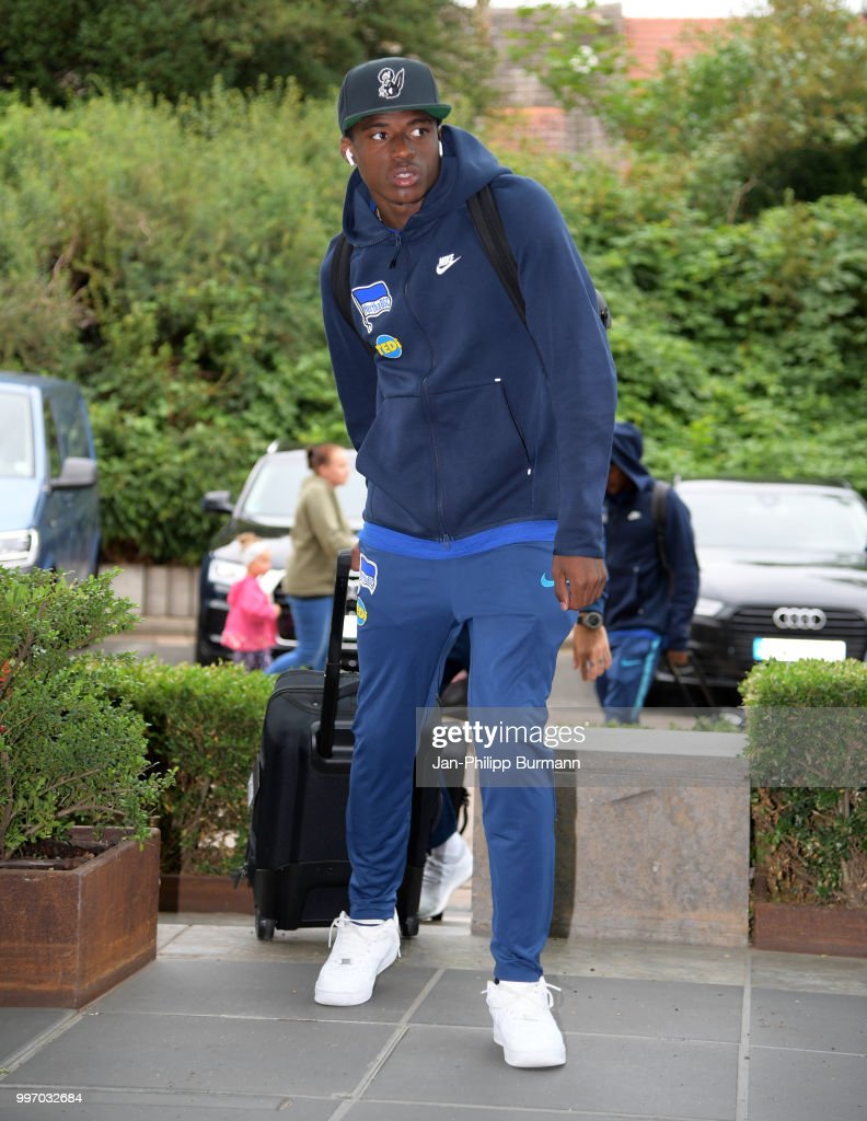 Javairo Dilrosun of Hertha BSC during a training camp on July 12, 2018 in Neuruppin, Germany.