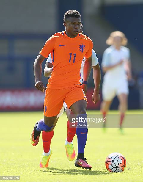 Javairo Dilrosun of Netherlands during the international friendly match between England U19 and Netherlands U19 on September 1 2016 in Telford United...
