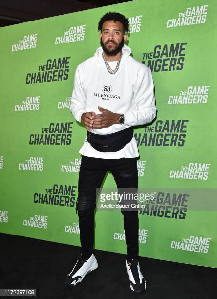JaVale McGee attends the LA Premiere of The Game Changers at ArcLight Hollywood on September 04 2019 in Hollywood California
