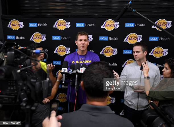 JaVale McGee during a Los Angeles Lakers practice session at the UCLA Health Training Center on September 25 2018 in El Segundo California