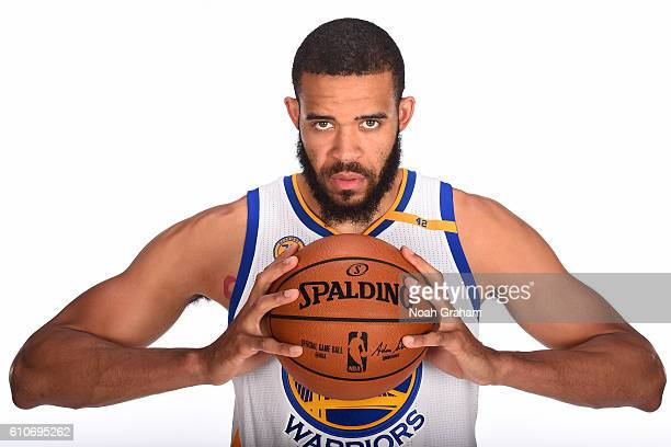 JaVale McGee of the Golden State Warriors poses for a portrait during NBA Media Day at Oracle Arena in Oakland California on September 26 2016 NOTE...