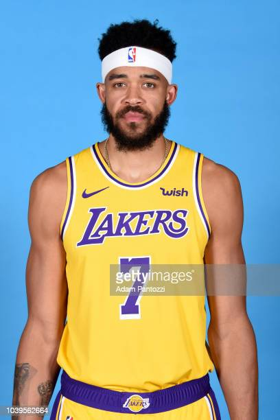 JaVale McGee of the Los Angeles Lakers poses for a headshot during media day at UCLA Health Training Center on September 24 2018 in El Segundo...
