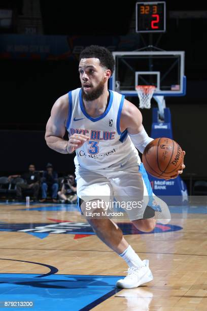 Javan Felix of the Oklahoma City Blue handles the ball during a NBA GLeague game against the Agua Caliente Clippers on November 25 2017 at the Cox...