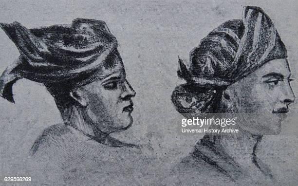 Javanese and Malay headdresses 19th century