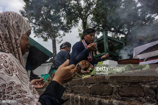 Javanese people follows the ritual of Nguras Enceh ceremony in the complex of the Tomb Kings Mataram at Yogyakarta Indonesia on September 22 2017...