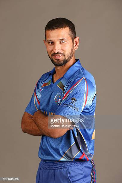 Javed Ahmadi poses during the Afghanistan 2015 ICC Cricket World Cup Headshots Session at the Intercontinental on February 7 2015 in Adelaide...