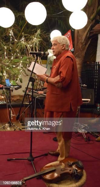 Javed Akhtar at Kaifi Ki Yaad Main an evening of live music and poetry at 25 Janki Kutir celebrating the birth centenary of the late poet Kaifi Azmi...