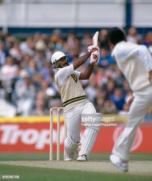 Javed Miandad batting for Pakistan during his innings of 113 in the 1st Texaco Trophy One Day International between England and Pakistan at The Oval...