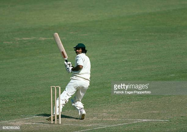 Javed Miandad batting for Sussex during the Benson and Hedges Cup Quarter Final between Kent and Sussex at the St Lawrence Ground Canterbury 8th June...