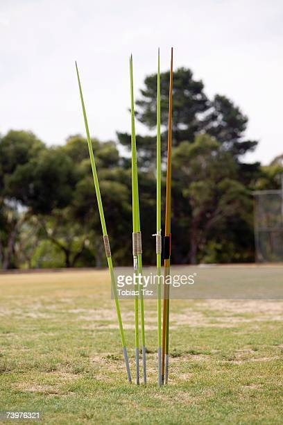 Javelin poles prepared for competition