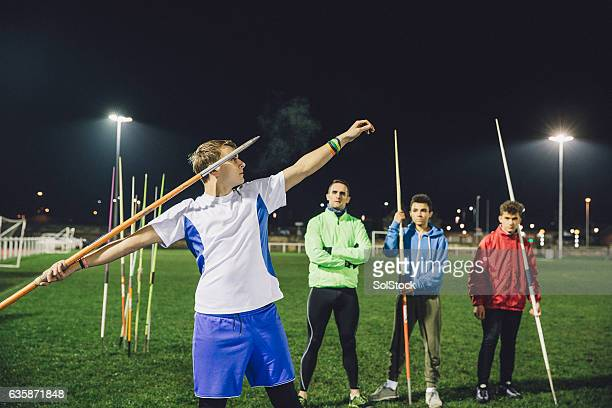 Javelin Training Session