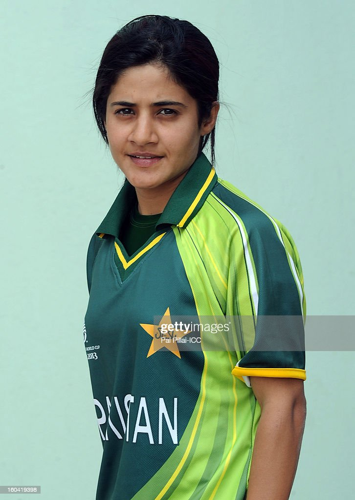 Javeria Wadood of Pakistan attends a portrait session ahead of the ICC Womens World Cup 2013 at the Barabati stadium on January 31, 2013 in Cuttack, India.
