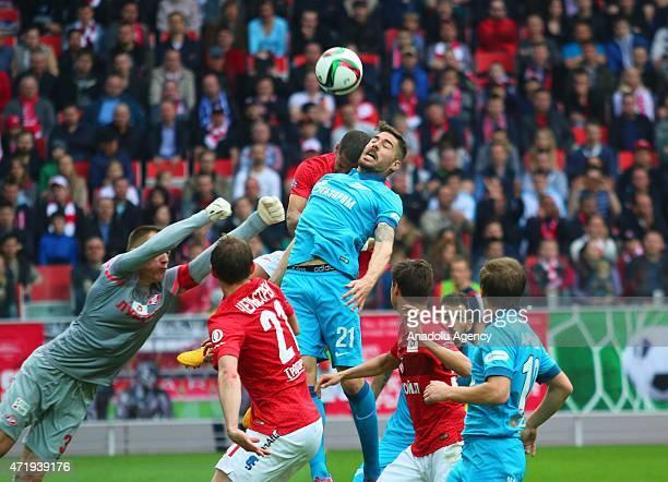 Javi Garcia of Zenit StPetersburg in action during the Russian Football PremiereLeague match between FC Spartak Moscow and FC Zenit Saint Petersburg...