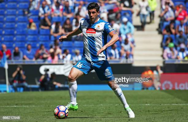 Javi Lopez during the match between RCD Espanyol and Deportivo Alaves on April 08 2017