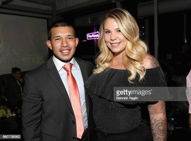 Javi Marroquin and Kailyn Lowry attend the exclusive premiere party for Marriage Boot Camp Reality Stars Season 9 hosted by WE tv on October 12 2017...