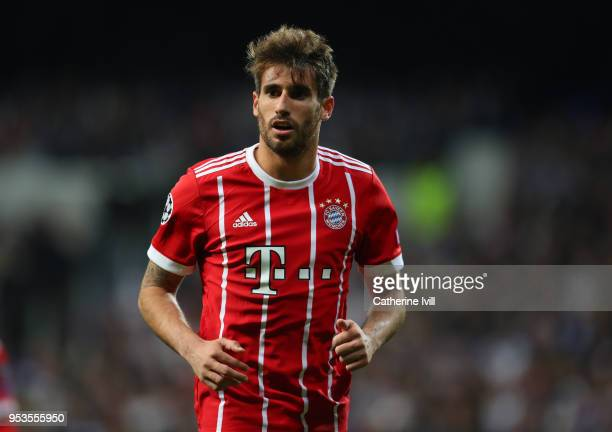 Javi Martinez of Bayern Munich during the UEFA Champions League Semi Final Second Leg match between Real Madrid and Bayern Muenchen at the Bernabeu...
