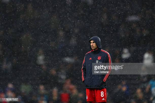 Javi Martinez of FC Bayern Munich looks on prior to the UEFA Champions League group B match between Tottenham Hotspur and Bayern Muenchen at...