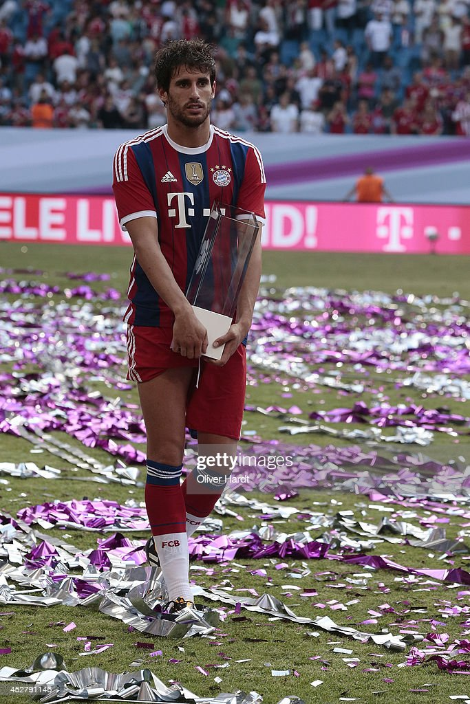 Javi Martinez of Munich after the Telekom Cup 2014 Finale match between FC Bayern Muenchen and Borussia Moenchengladbach at Imtech Arena on July 27, 2014 in Hamburg, Germany.