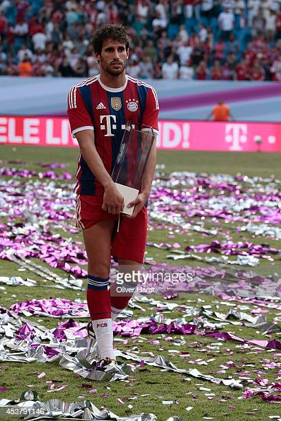 Javi Martinez of Munich after the Telekom Cup 2014 Finale match between FC Bayern Muenchen and Borussia Moenchengladbach at Imtech Arena on July 27...
