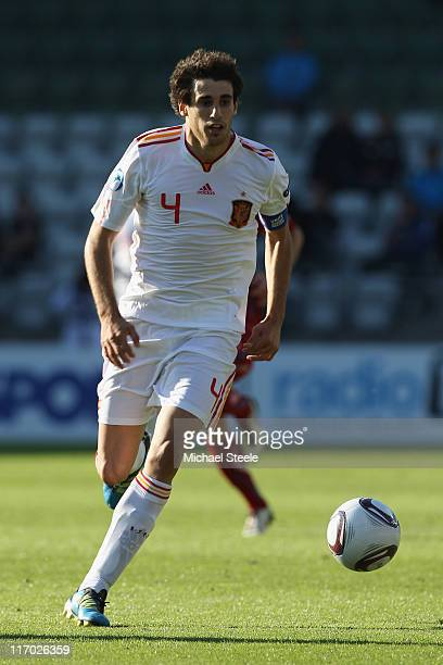 Javi Martinez of Spain during the UEFA European Under21 Championship Group B match between Czech Republic and Spain at the Viborg Stadium on June 15...