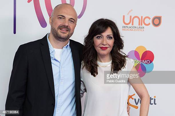 Javi Nieves and Mar Amate attend 'Cadena 100 por Etiopia' gala at Barclaycard Center on March 21 2015 in Madrid Spain