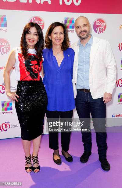 Javi Nieves and Mar Amate attend 'La Noche De Cadena 100' charity concert at WiZink Center on March 23 2019 in Madrid Spain