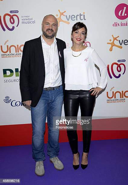 Javi Nieves and Mar Amate attend the 'Cadena 100 Por Ellas' concert photocall at the Barclaycard Center on November 7 2014 in Madrid Spain