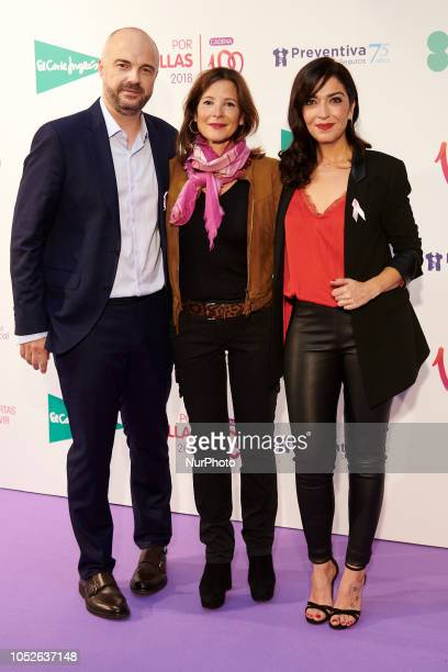Javi Nieves and Mar Amate attends the Cadena 100 'Por ellas' Photocall at Wizink Center in Madrid on October 20 2018