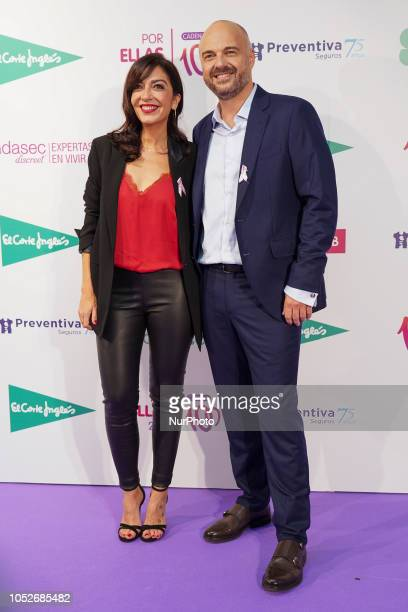 Javi Nieves Mar Amate attends the Cadena 100 'Por ellas' Photocall at Wizink Center in Madrid on October 20 2018