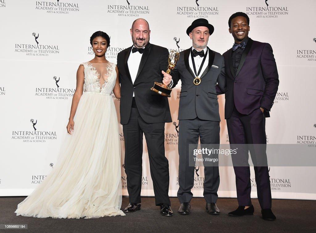 46th Annual International Emmy Awards - Press Room : News Photo