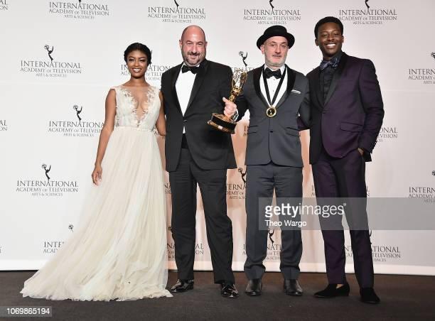 Javicia Leslie Alexjandro Rincon Fernando Gaston and Brandon Michael Hall attend the 46th Annual International Emmy Awards at New York Hilton on...