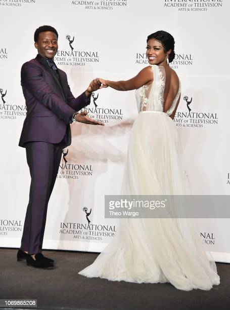 Javicia Leslie and Brandon Michael Hall attend the 46th Annual International Emmy Awards at New York Hilton on November 19 2018 in New York City