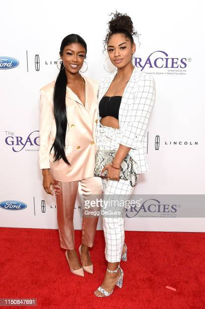 Javicia Leslie and Jazmyn Carter at the 44th Annual Gracies Awards hosted by The Alliance for Women in Media Foundation on May 21 2019 at the Four...