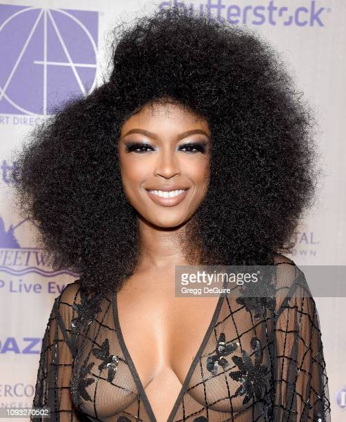 Javicia Leslie arrives at the Art Directors Guild 23rd Annual Excellence In Production Design Awards at InterContinental Los Angeles Downtown on...