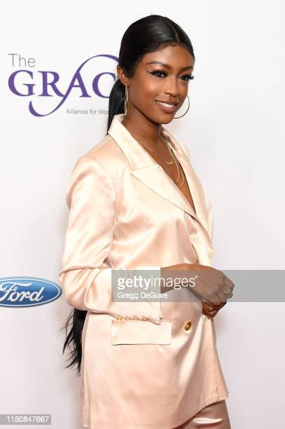Javicia Leslie at the 44th Annual Gracies Awards hosted by The Alliance for Women in Media Foundation on May 21 2019 at the Four Seasons Beverly...